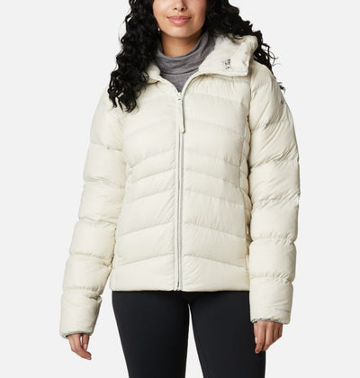 Columbia Sportswear Autumn Park Down Hooded Jacket for Women Chalk