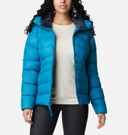 Columbia Sportswear Autumn Park Down Hooded Jacket for Women Fjord Blue