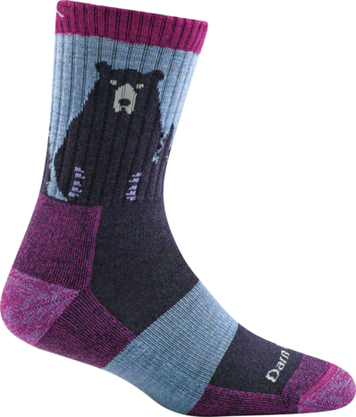 BEAR TOWN MICRO CREW LIGHT CUSHION SOCK FOR WOMEN