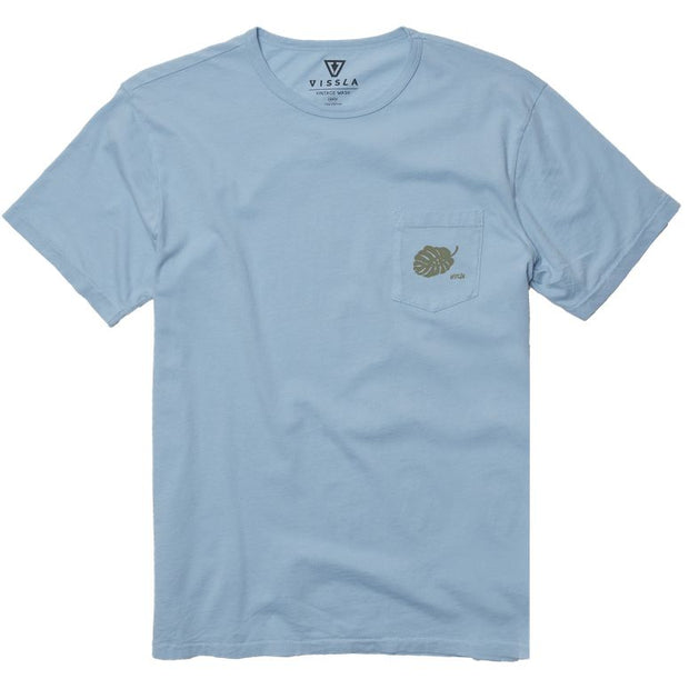 Vissla Men's TC Pacific O Blue Vintage Wash Pocket Tee Pacific Blue