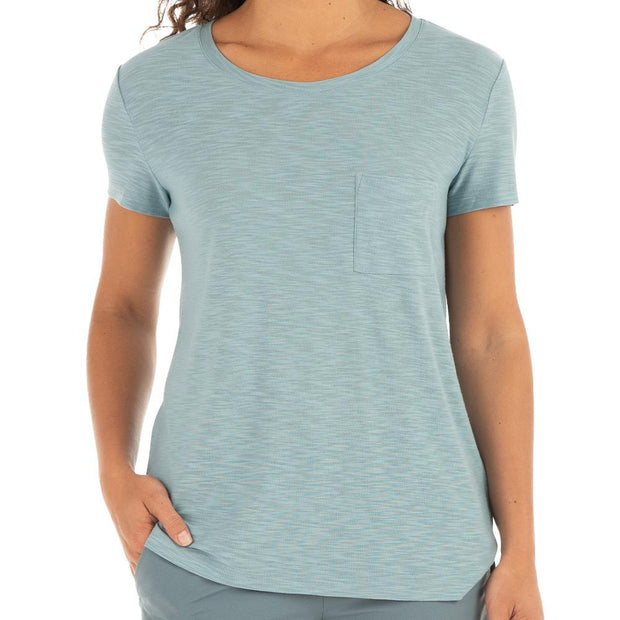 Bamboo Slub Channel Pocket Tee for Women