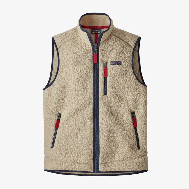 Retro Pile Fleece Vest for Men