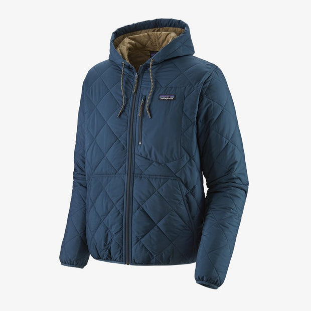 Patagonia Diamond Quilted Bomber Hoody for Men Stone Blue