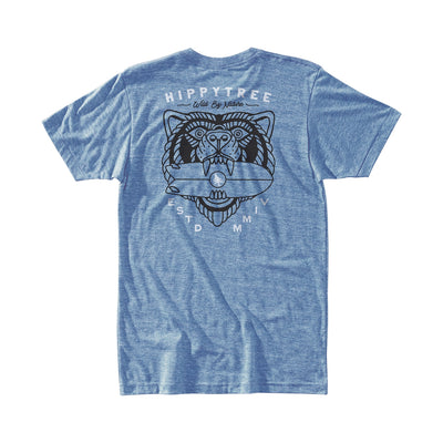 Hippy Tree Beast Tee for Men Heather Light Blue
