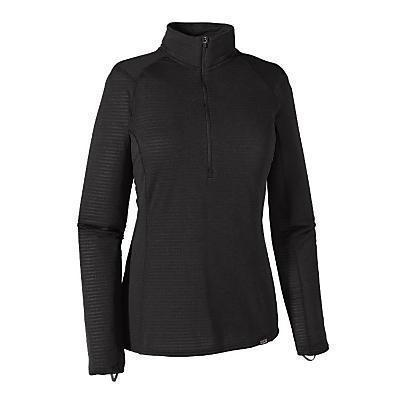 Patagonia Capilene Thermal Weight Zip Neck Pullover for Women Black