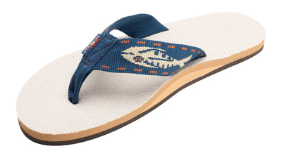 Single Layer Hemp with a Nylon Fish Pattern Strap Sandals for Men