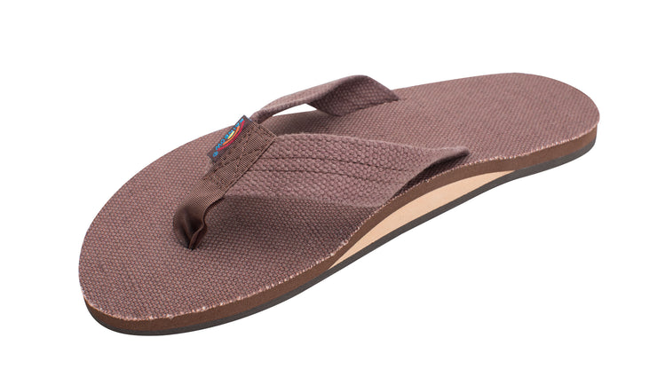 Single Layer Hemp Top and Strap with Arch Support Sandals for Men