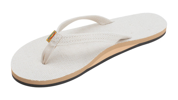 Single Layer Hemp with Arch Support and 1/2 Narrow Strap Sandals for Women