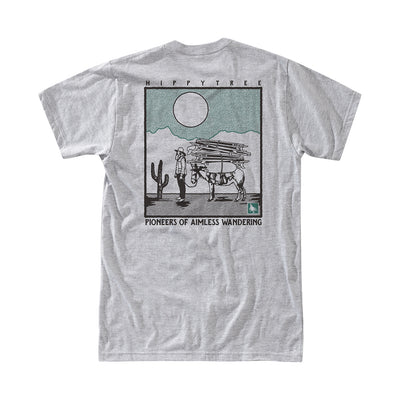 Hippy Tree Prospector Tee for Men Heather Grey