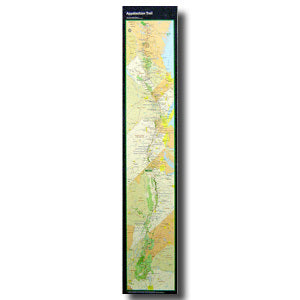 APPALACHIAN TRAIL POSTER MAP-STRIP
