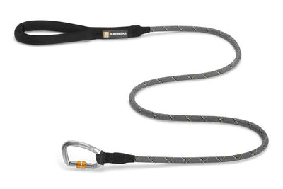 Ruffwear Knot-A-Leash Rope Dog Leash with Carabiner Granite Gray