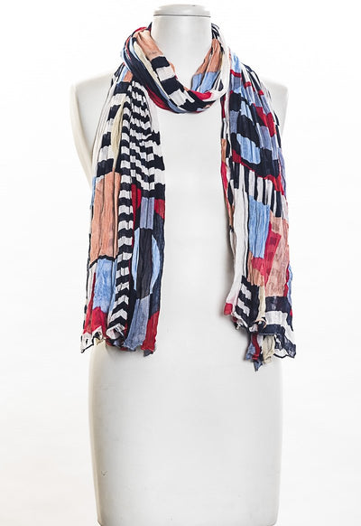 Stripes With Color Patch Scarf for Women