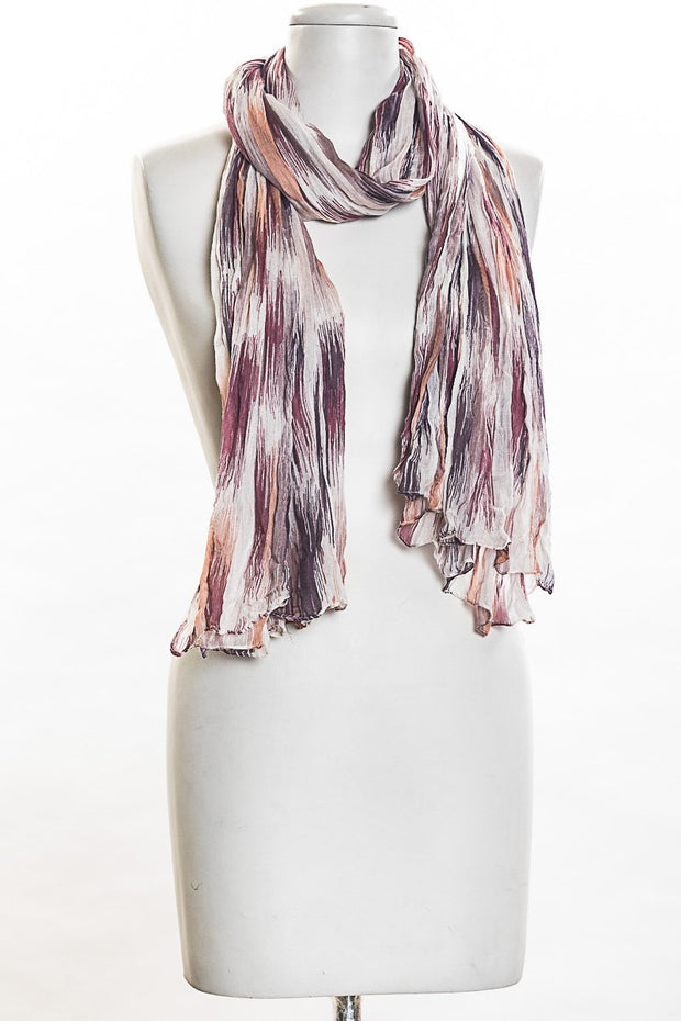 Tonal Broken Stripes Scarf for Women