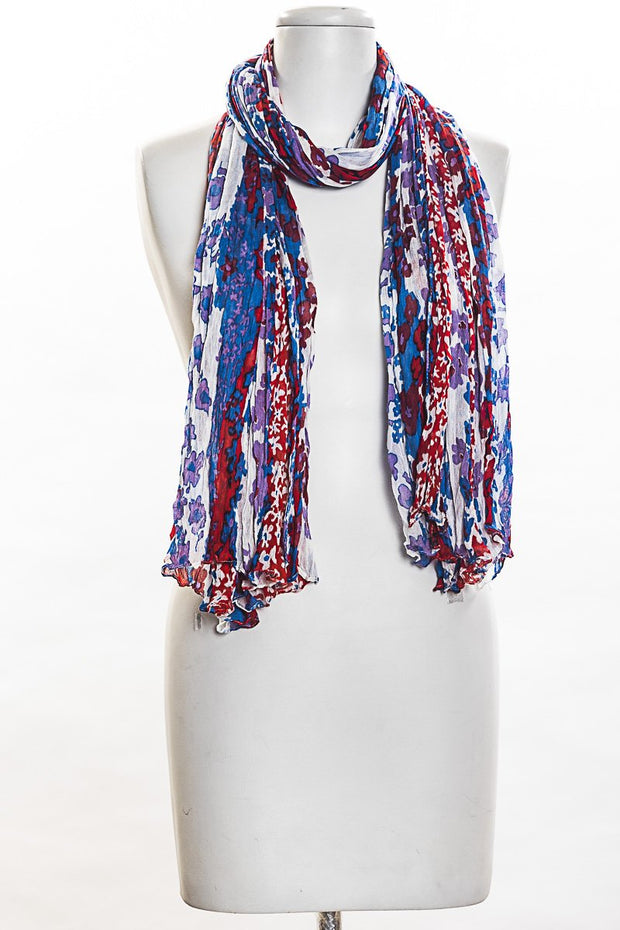 Purple Flowers Scarf for Women