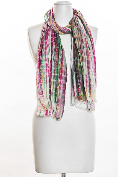 Multi Color Tie Dye Scarf for Women