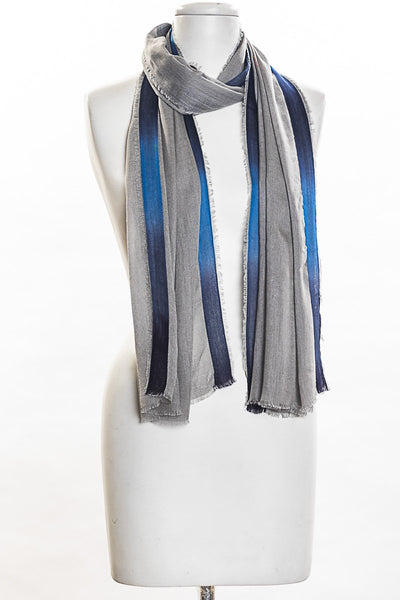 Solid Dyed with Shaded Border Scarf for Women