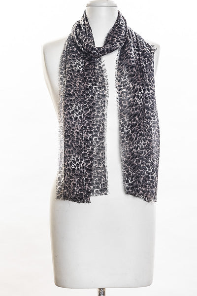 Animal Print on Lurex Scarf for Women