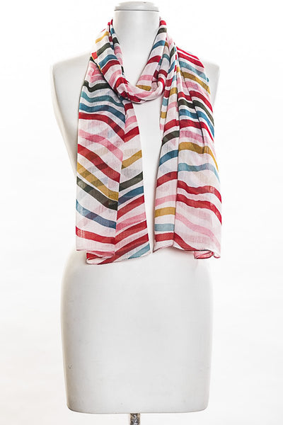 Stripe Waves Scarf for Women
