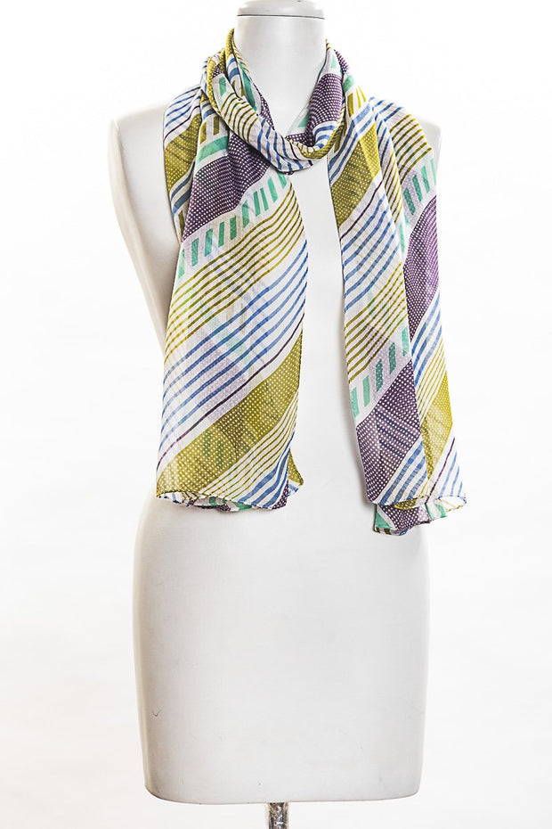 Diagonal Stripes Scarf for Women
