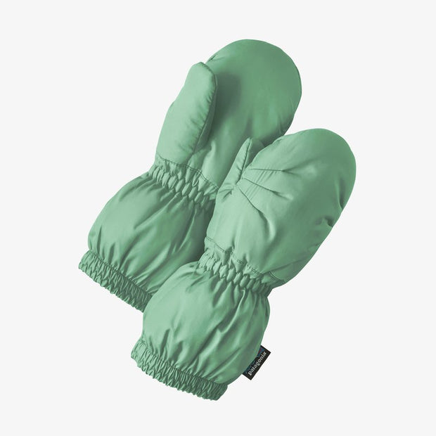 Patagonia Puff Mitts for Baby Gypsum Green