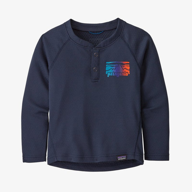Patagonia Capilene Midweight Henley for Baby Fitz Roy Rambler: New Navy