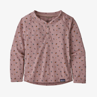 Patagonia Capilene Midweight Henley for Baby Sweet Fields Hazy Purple