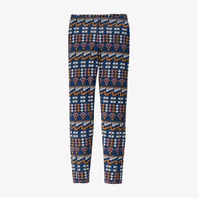 Patagonia Capilene Midweight Bottoms for Kids Wild Roots: Crater Blue
