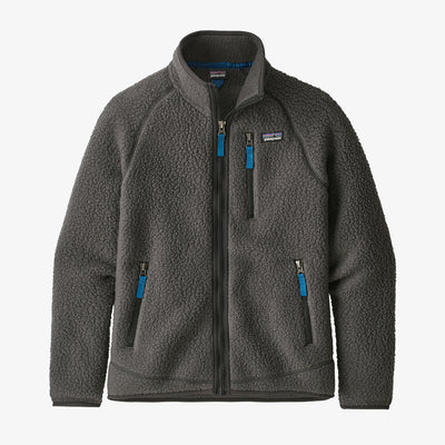 Patagonia Retro Pile Fleece Jacket for Boys Forge Grey
