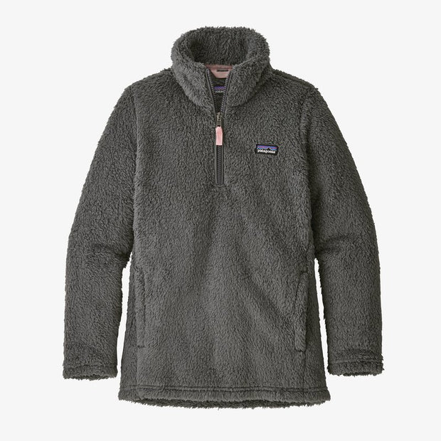 Patagonia Los Gatos 1/4 Zip Fleece Pullover for Girls Forge Grey