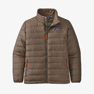 Patagonia Down Sweater Jacket for Boys Topsoil Brown