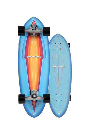 "BLUE HAZE 31"" SURFSKATE COMPLETE WITH CX4 TRUCKS"