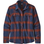Patagonia Long Sleeved Fjord Flannel Shirt for Women Burlwood New Navy