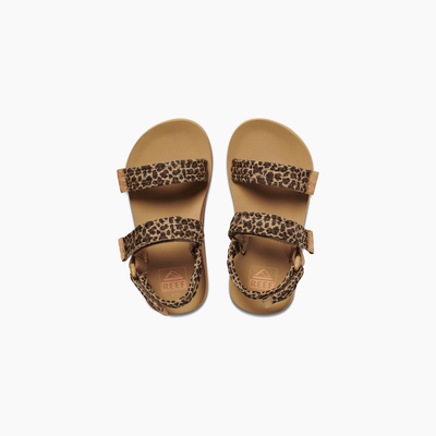 Reef Little Ahi Convertible Sandals for Girls Leopard