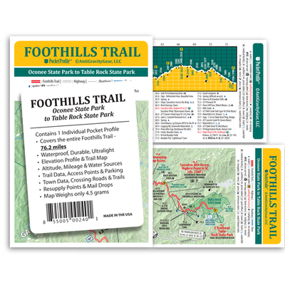 FOOTHILL TRAIL POCKET MAP