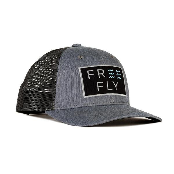 Free Fly Apparel Wave Snapback Hat for Men Heather Grey