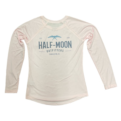 Half-Moon Outfitters Flying Bird Sun Protection Long Sleeve Shirt for Women Pink Blossom