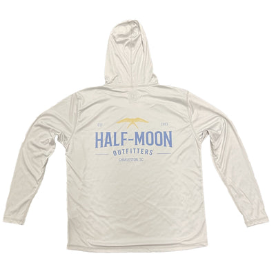 Half-Moon Outfitters Flying Bird Sun Protection Long Sleeve Hoody Pearl Grey