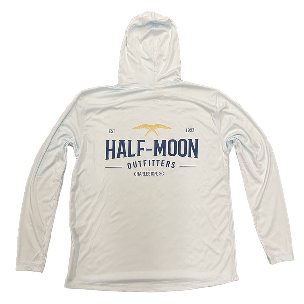 vin-chateau-chalon Flying Bird Sun Protection Long Sleeve Hoody Arctic Blue