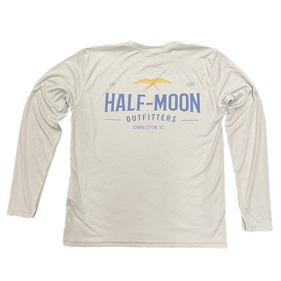 Half-Moon Outfitters Flying Bird Sun Protection Long Sleeve Shirt Pearl Grey