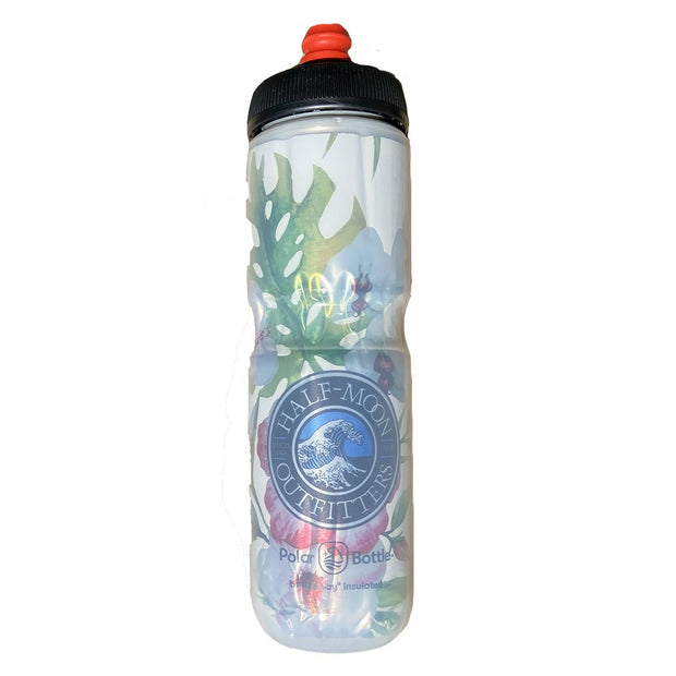 Polar Bottle Half-Moon Outfitters Breakaway Insulated 24 oz Floral with Half-Moon Wave Logo