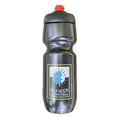 Polar Bottle Half-Moon Outfitters Breakaway 24 oz Charcoal Gray with Half-Moon Original Logo