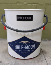 Huck Bucket Half-Moon logo Original Red