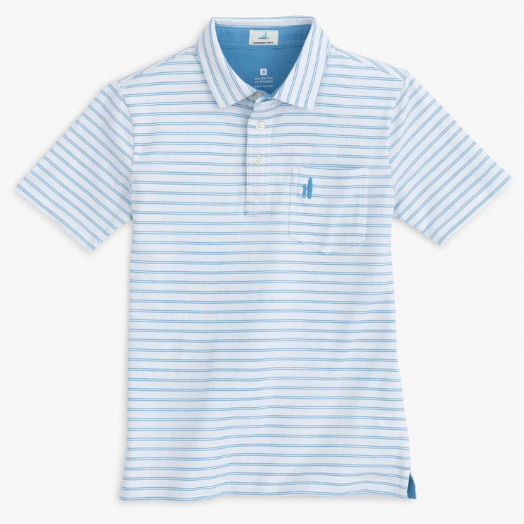MARFA STRIPE 4-BUTTON POLO SHIRT FOR MEN