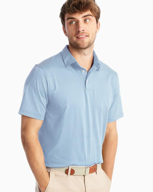 ALBATROSS STRIPED JERSEY POLO FOR MEN