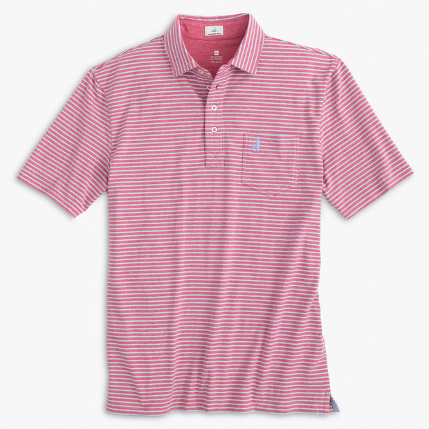 SEAN STRIPE 4-BUTTON POLO SHIRT FOR MEN