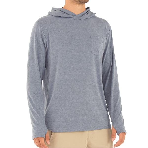 Free Fly Apparel Bamboo Crossover Hoody Heather Blue Dusk