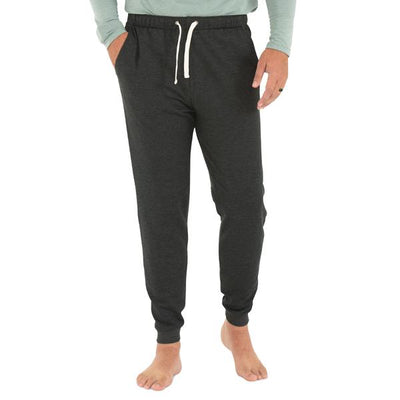 Free Fly Apparel Bamboo Fleece Jogger Heather Black #color_heather-black
