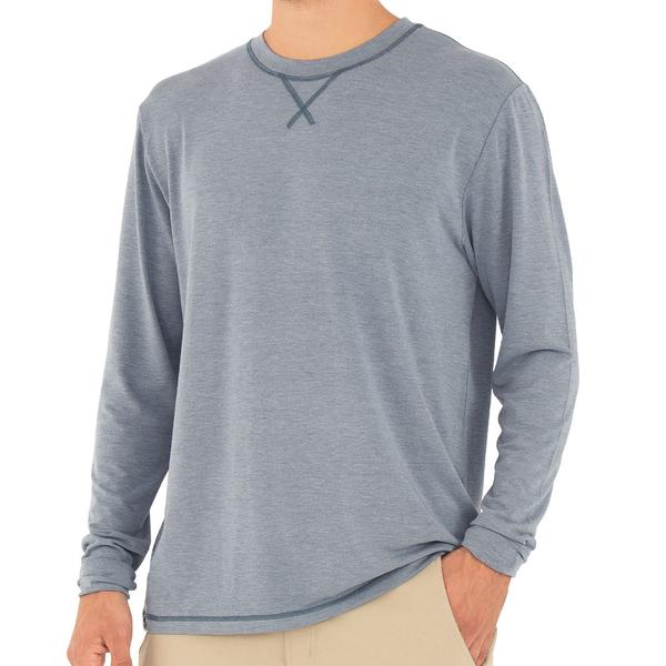 Free Fly Apparel Bamboo Flex Long Sleeve Shirt Heather Blue