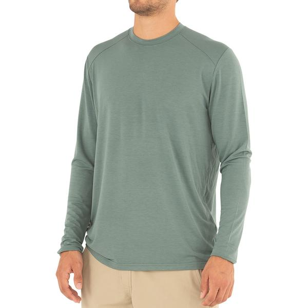 Free Fly Apparel Bamboo Midweight Long Sleeve Shirt Juniper