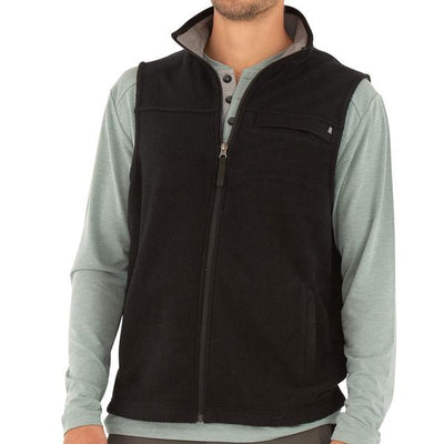 Free Fly Apparel Bamboo Polar Fleece Vest Black